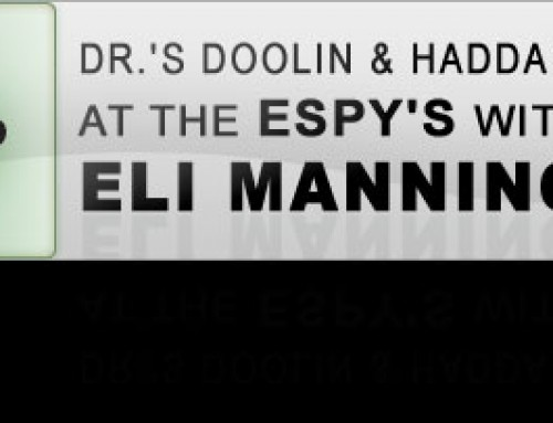 Dr.'s Doolin & Haddad at the Espy's with Eli Manning