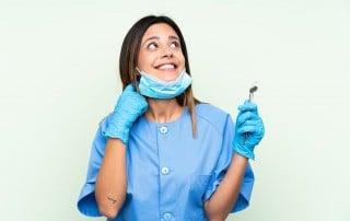 dental hygienist wondering about her next patient