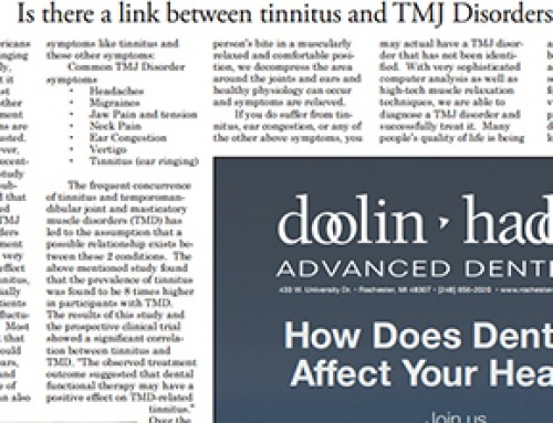 Is there a link between tinnitus and TMJ Disorders?