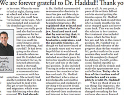 """We are forever thankful to Dr. Haddad!! Thank you!"