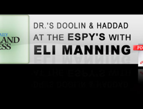 Dr.'s Doolin & Haddad at the Espy's with Eli Manning