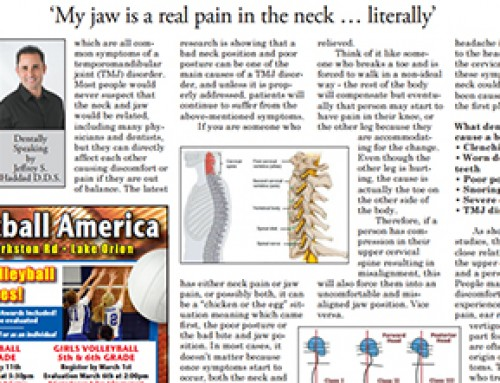 'My jaw is a real pain in the neck… literally'