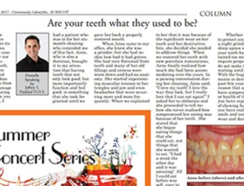 Are your teeth what they used to be?