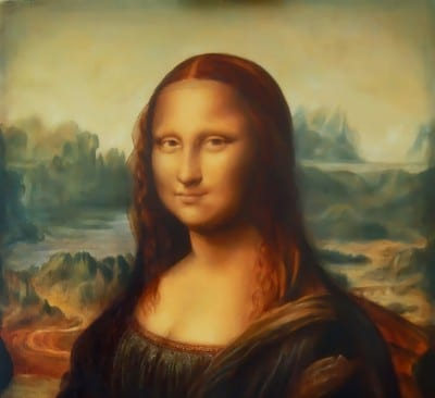 A photo of the Mona Lisa