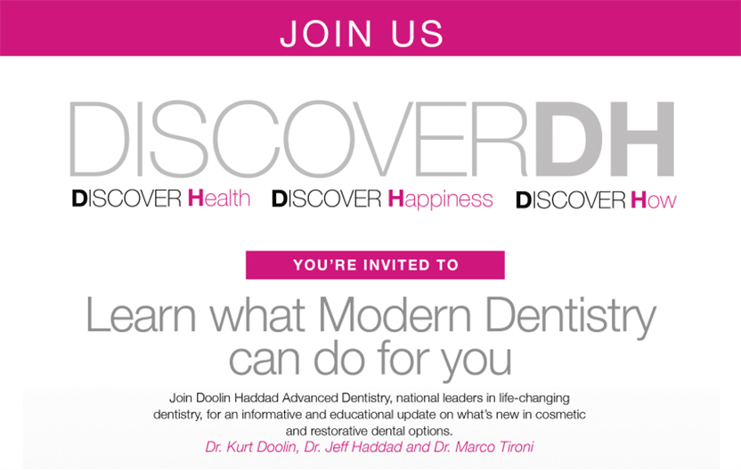 Learn What Modern Dentistry Can Do for You at November 29 Seminar