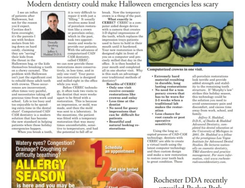 Modern dentistry could make Halloween emergencies less scary.