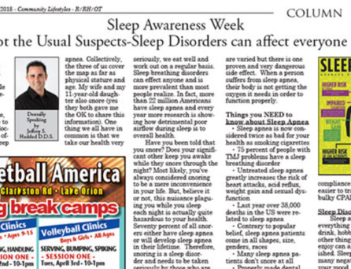 Sleep Awareness Week – Sleep Disorders Can Affect Everyone