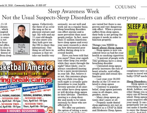 Sleep Awareness Week – Sleep Disorders Can Affect Everyone