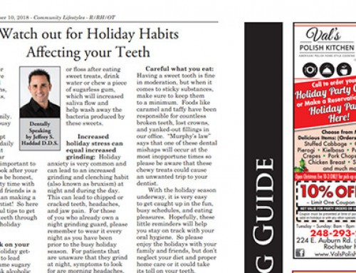 Watch out for Holiday Habits Affecting your Teeth