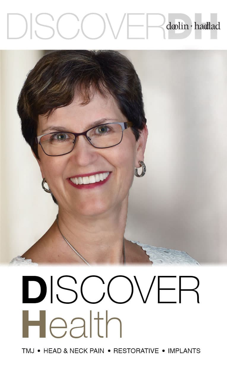 "Woman smiling with the words ""Discover Health"""