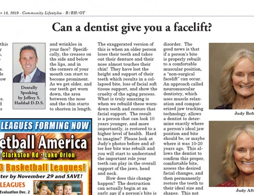 Can a Dentist Give you a Facelift?