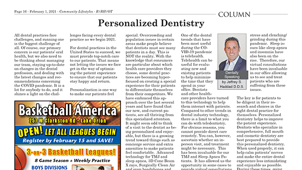 Personalized Dentistry