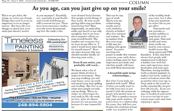 As you age, can you just give up on your smile?