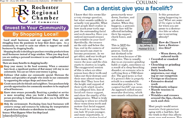 Can a dentist give you a facelift