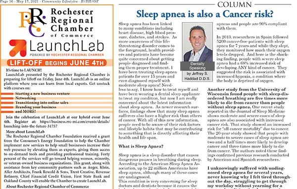 Sleep apnea is also a Cancer risk